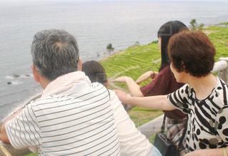 白米千枚田を見つめるの写真・画像素材[1456241]