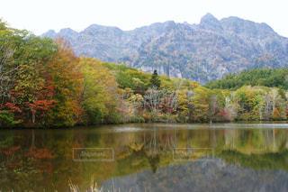 自然,紅葉,屋外,観光地,山,反射,樹木,リフレクション,長野県,10月,鏡池,お出かけ,戸隠,長野市