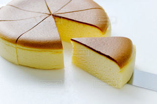 スフレチーズケーキの写真・画像素材[3200268]