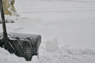 雪かきの写真・画像素材[4182481]