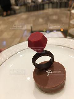 甘いチョコレートの指輪の写真・画像素材[804894]