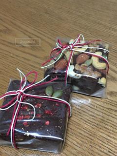 リボン,チョコレート,バレンタイン,ブラウニー,ラッピング