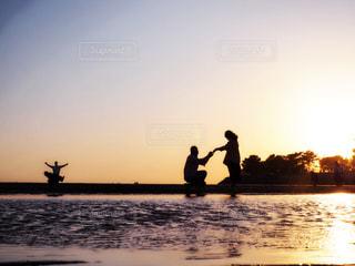 海,空,夕日,父母ヶ浜