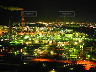 夜の街の景色の写真・画像素材[1681415]