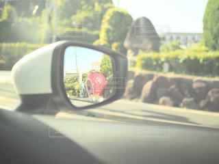 車の側面鏡の写真・画像素材[2693955]