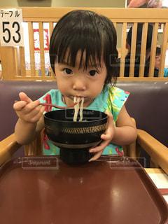 ランチ,うどん,女の子,はま寿司