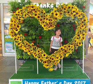 サインの前に黄色の花 - No.722513