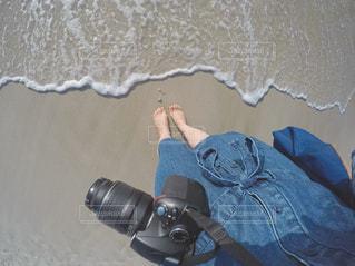 青と白の靴の写真・画像素材[1117307]