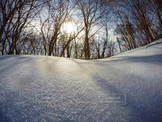 雪の上に乗って人に道が覆われています。の写真・画像素材[1817488]