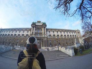 女性,20代,空,カメラ女子,旅行,写真,オーストリア,ウィーン,インスタ映え