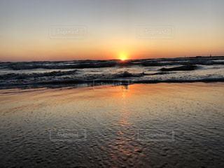 自然,海,空,屋外,太陽,夕暮れ,水面,光