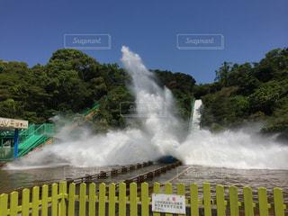 風景,春,水,水しぶき,ダイナミック,迫力,ウォータースライダー,みさき公園,急流すべり,バシャーン