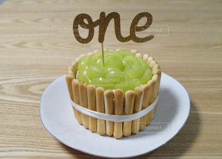 1歳の誕生日ケーキの写真・画像素材[840295]