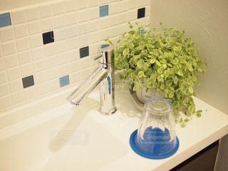 タイル,グリーン,手洗い,洗面台