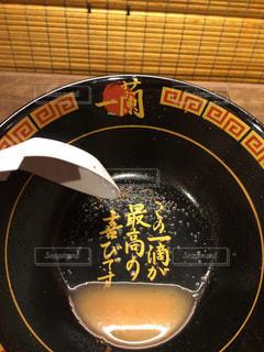 一蘭ラーメン、味集中カウンターの写真・画像素材[770318]