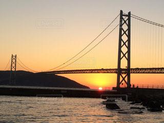 橋の夕日 - No.963475