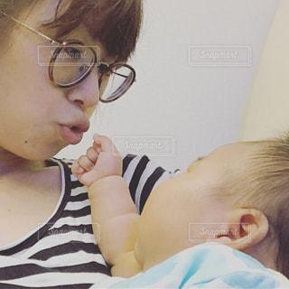 女性,赤ちゃん,ママと子供