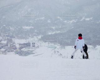 スキーを滑っている時の眺めの写真・画像素材[931820]