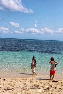 美女とビーチの写真・画像素材[1343286]