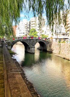 中秋節のめがね橋の写真・画像素材[1396121]