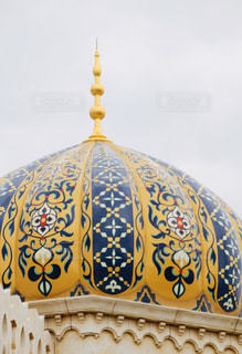 黄色い建物のクローズアップの写真・画像素材[3144062]