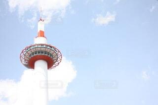 空,建物,屋外,京都,雲,タワー,灯台,京都タワー