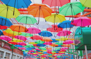雨,傘,カラフル,旅行,長崎,ハウステンボス
