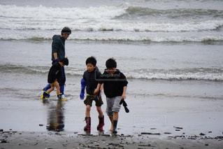海,海岸,寒い,梅雨