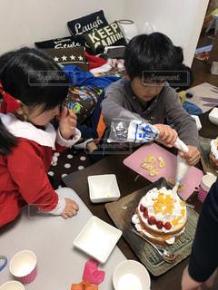 手作りクリスマスケーキの写真・画像素材[1668527]