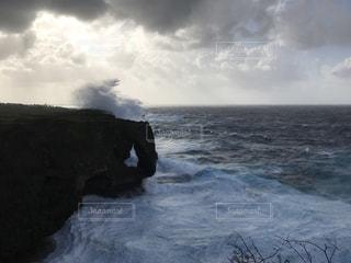 南国,沖縄,万座毛,台風,iPhone写真