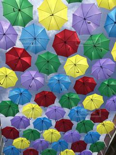 別着色された傘のグループ - No.768681