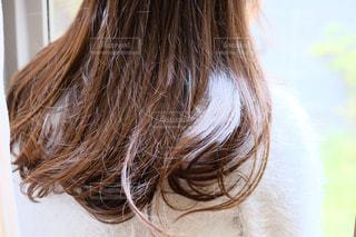 冬のいい髪おでかけの写真・画像素材[1599790]