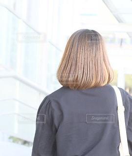 冬のいい髪おでかけの写真・画像素材[1599800]