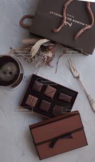 ラ・メゾン・デュ・ショコラのチョコレート(アタンション)です。の写真・画像素材[1741912]