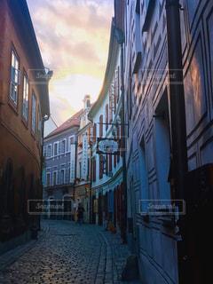 海外,夕暮れ,世界遺産,旅行,路地,チェコ,チェスキークルムロフ,世界一美しい街