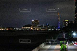 夜景,福岡タワー,福岡市,ももち浜,ヤフードーム