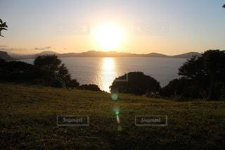 日没前の太陽の写真・画像素材[1223662]