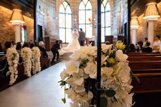 結婚の日を迎えた二人の写真・画像素材[1257874]