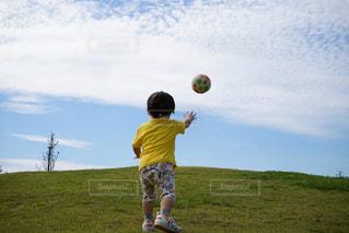 公園,スポーツ,青空,子供,ボール