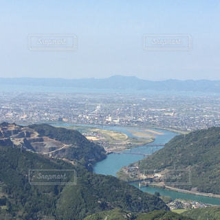 絶景,煙突,熊本県,八代市,八竜天文台,山からの景色,八代平野,煙突の煙
