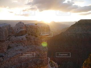 自然,風景,空,朝日,アメリカ,旅行,日の出,グランドキャニオン,コロラド