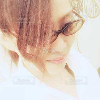 紫外線カットメガネの写真・画像素材[1349719]