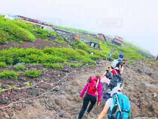 富士登山へ挑戦の写真・画像素材[1404446]