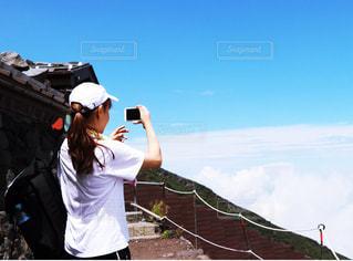 富士登山へ挑戦(*^▽^*)の写真・画像素材[1405180]