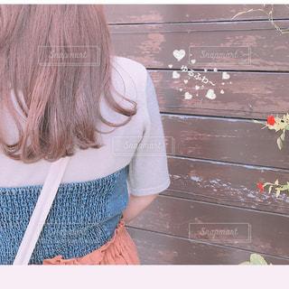 ゆるふわヘアーの写真・画像素材[1490333]