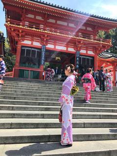 八坂神社の石段の写真・画像素材[2146819]