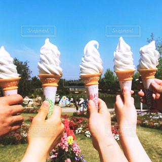 ソフトクリーム食べたよの写真・画像素材[2393279]