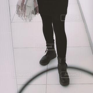 黒のブーツの写真・画像素材[2700303]