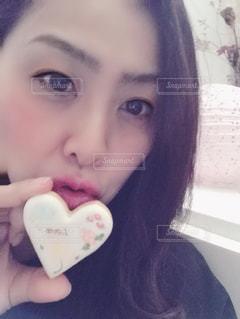 可愛いバレンタインチョコクッキーの写真・画像素材[2928113]