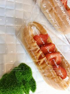 フレッシュイチゴのサンドイッチの写真・画像素材[3148128]